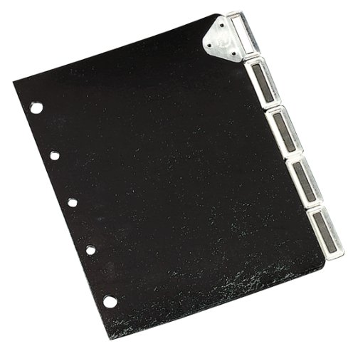 Master Catalog Rack Index Set, Black/Silver (MATB5175M) (Yale Martin Master Rack Catalog)
