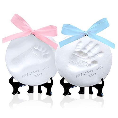 Baby Handprint Footprint Ornament Keepsake Kit – No Mold Personalized Baby Prints Ornaments for Newborn – Baby Nursery Memory Art Kit Easel – Baby Shower Gifts Boys,Girls – Baby Registry Gift Box
