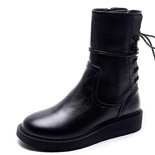 Black Biker Style Boots - 4