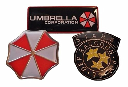 Resident Evil (Set of 3) Umbrella, Raccoon,Logo Metal for sale  Delivered anywhere in USA
