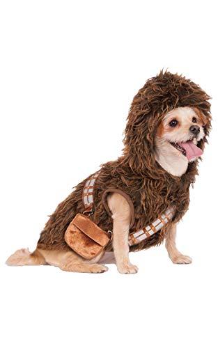 Star Wars Dog Halloween Costumes (Rubie's Star Wars Chewbacca Hoodie Pet Costume,)