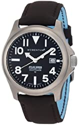 Momentum Men's 1M-SP00B12C Atlas Black Dial Brown Touch Leather Watch