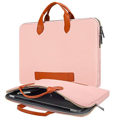 15.6 Inch Laptop Bag Case for Women Ladies Business Briefcase for 2020 HP Envy X360/Spectre x360 15.6, Dell Inspiron 15 5584, Acer Aspire 15, Lenovo Yoga 730 15.6, MSI ASUS Chromebook 15.6 Case, Pink