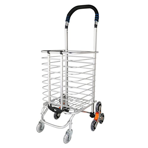 e3c249b791793 uxcell Folding Shopping Cart, Stair Climbing Cart Holds Up to 110 ...