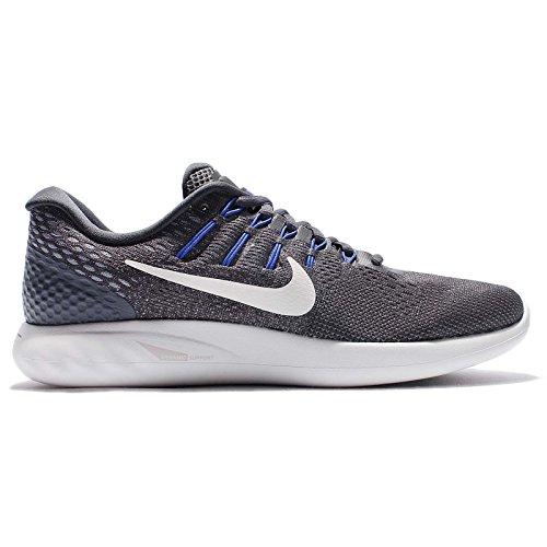 Nike Herren Lunarglide 8 Laufschuhe Dunkelgrau / Gipfel Weiß-Wolfsgrau
