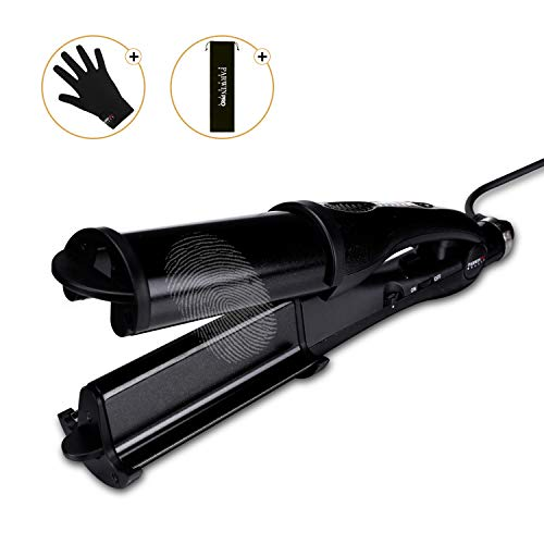 Parwin Pro Hair Curling Iron Fast Heating Hair Curler Waver for Long Hair Deep Waver Curling Wand with Temperature Control Black