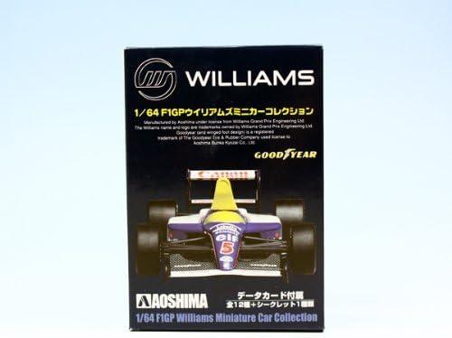 F1GPウィリアムズミニカーコレクション WILLIAMS レーシングカー 車 模型 アオシマ(ノーマル12種セット)