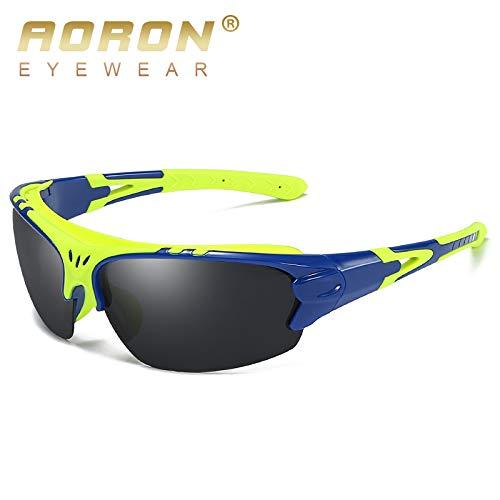 sunglasses Coupe Sport Protection de Lunettes frame Soleil Homme Plage Lunettes pêche Blue yellow Lunettes de Soleil Mjia pour Vent polarisées de de UV400 and dxZUqnOw