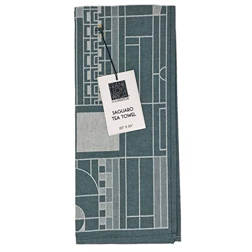 KAF Home Frank Lloyd Wright Woven Jacquard Tea Towel 20 x 30-inch 100-Percent Cotton (Saguaro)