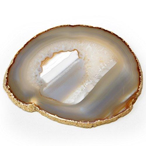 Genuine Brazilian Agate Slice. Includes Agate Authentication Card. NATURAL (4