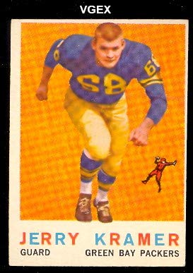 1959 Topps Regular (Football) card#116 Jerry Kramer of the Green Bay Packers Grade very good/excellent
