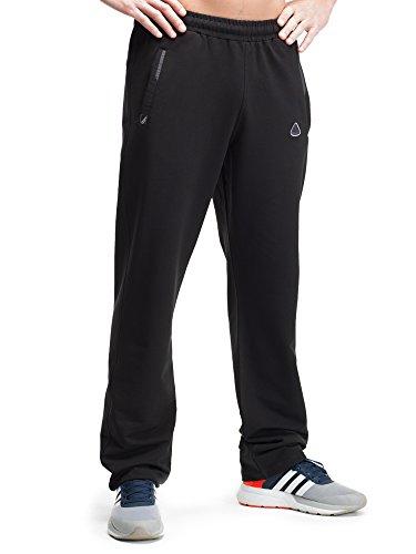 tivewear Pants Athletic Sweatpants Black Long (Large x 36L Straight, Black) ()