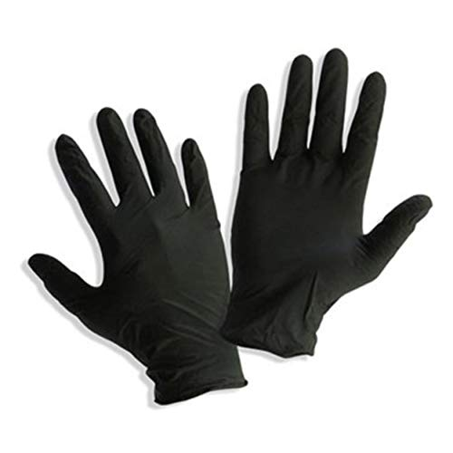 Safe Heal - Black Powder Free Nitrile Sterile Exam Gloves, Box/100- FDA Approved (Medium (100 Count))
