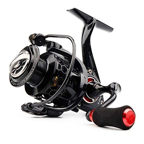 2019 Spinning Reel with Free Spool Lightweight CNC Aluminum Spool 10+1Bbs Saltwater Wheel Carp Fishing Reels Carretilha,Red,11,3000 Series