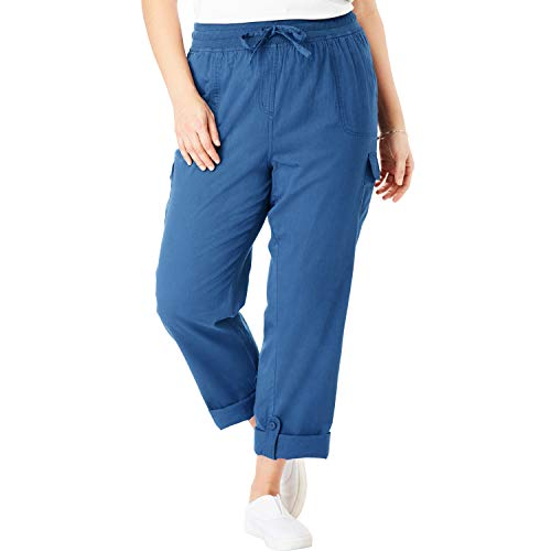 Woman Within Women's Plus Size Convertible Length Cargo Pant - Royal Navy, 24 W