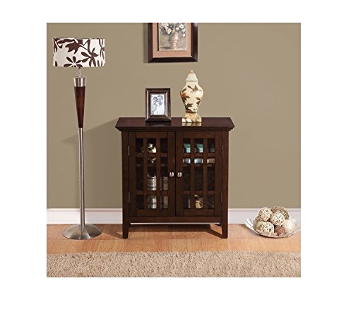 WYNDENHALL Freemont Dark Tobacco Brown Low Contemporary Storage Media Cabinet/ Buffet