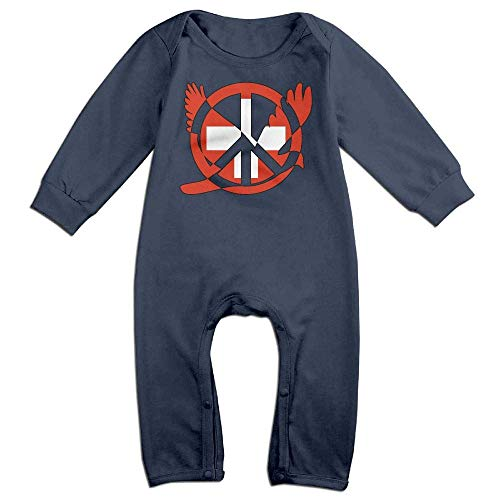 TYLER DEAN Toddler Baby Boy Girl Long Sleeve Jumpsuit Switzerland Flag Peace Sign Symbol Infant Long Sleeve Romper Jumpsuit Navy]()