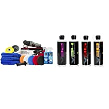 Chemical Guys BUF209 Porter Cable 7424XP Detailing Complete Detailing Kit with Pads, Backing Plate and Accessories (13 Items) & Chemical Guys GAPVKIT16 V Line Polish and Compound Kit - 16 oz. (4 Items)