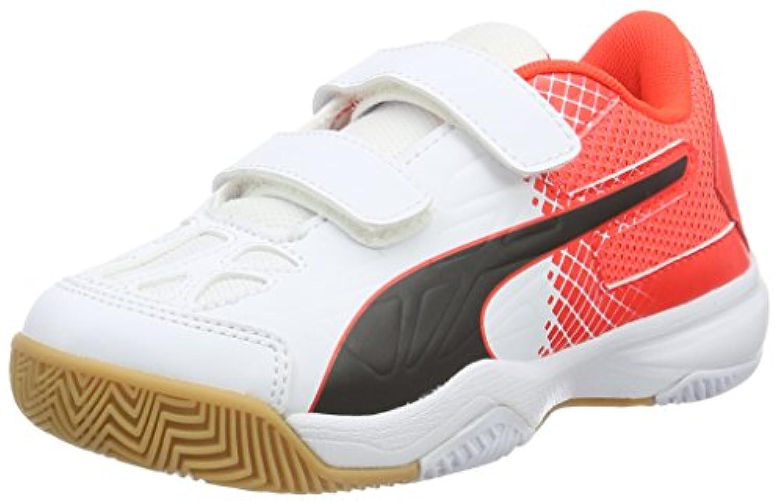 Puma Unisex Kids' Evospeed 5.5 V Jr Multisport Indoor Shoes, Rot (Red Blast-White-Black 01), 1 UK
