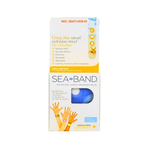 Sea-Band Child Travel Sickness Wristband- Colors may vary by Sea-Band