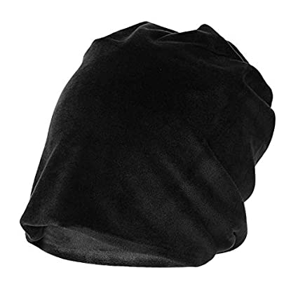 4d7944c06c8 Image Unavailable. Image not available for. Color  Womens Velvet Skullies  Beanie Gorro Winter Caps Ladies Baggy Hats Thick Warm Fleece Slouchy ...