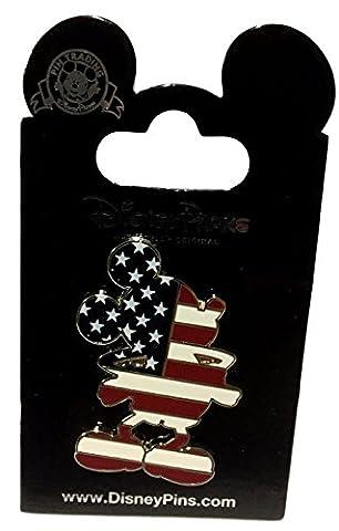 Disney Parks Mickey Mouse silhouette USA Flag Trading Pin (Disney Pin Grab Bag)