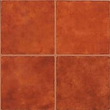 Mintcraft Cl3018 Vinyl Floor Tile Terra Cotta Vinyl