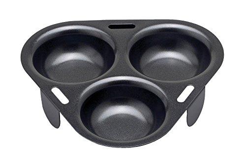 HIC Harold Import Co. 43133 HIC Non-Stick 3-Egg Poacher Insert, PFOA and BPA Free, 15