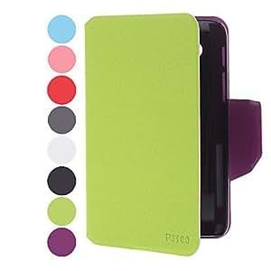 CECT STOCK Leechee estampado de piel de Samsung Mobile Phone Cases para P3100 (8 colores) , Negro