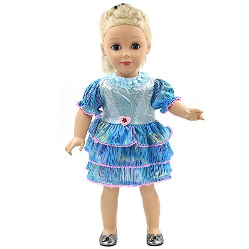 W&D VANNA Blue Fashion Dance Skirt Fits 18 Inch American Girl Dolls (Vannas Fashions)