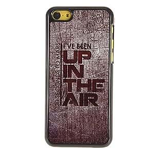 MOFY-Arriba en el Aire Patr—n Hard Case PC con 3 Almuerzos Protectores HD de pantalla para iPhone 5C