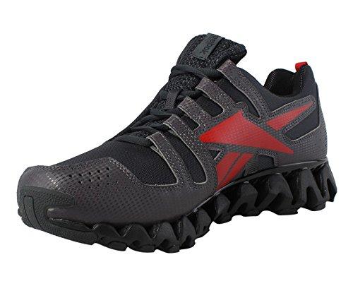 Reebok Mens ZigWild TR 2 Running Shoes, 11 D(M) US, Ash Grey, Black, Red, Gravel