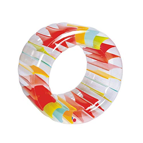 Fewear Water Wheel - Giant Inflatable Swimming Pool Water Wheel Toy - Outdoor Active Play Toy for Kids and Adults - Colorful Inflatable Rolling Wheel -Water Wheel Pool Float (A)