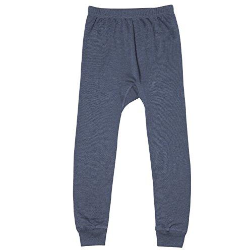 Organic Wool & Silk Long John Pants (116 (4-5 yrs), Indigo)