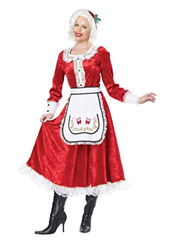 [California Costumes Women's Classic Mrs. Claus Adult, Red/White, XX-Large] (Santa And Mrs Claus Costumes)