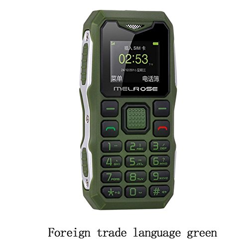 S10 Long Standby Big Voice Flashlight FM Mini Small Size Pocket Rugged Mobile Phone (Green)