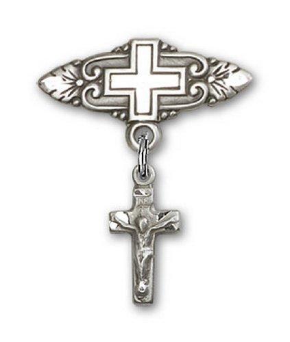 Icecarats Créatrice De Bijoux En Argent Sterling Crucifix Broche De Badge Charme Avec Croix 7/8 X 3/4