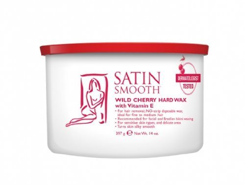 Satin Smooth WILD CHERRY HARD WAX WITH VITAMIN E by Satin Smooth