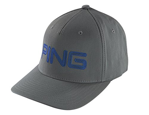 PING Tour Structured Dark Grey/Navy Blue Fitted S/M Hat/Cap