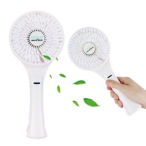 Codream Powerful Battery Operated Portable Fan Clip on USB 18650 Rechargeable Battery Small Personal Fan Update Version Stepless Speeds More Wind Speeds Choices Simple White 4.5 Inches