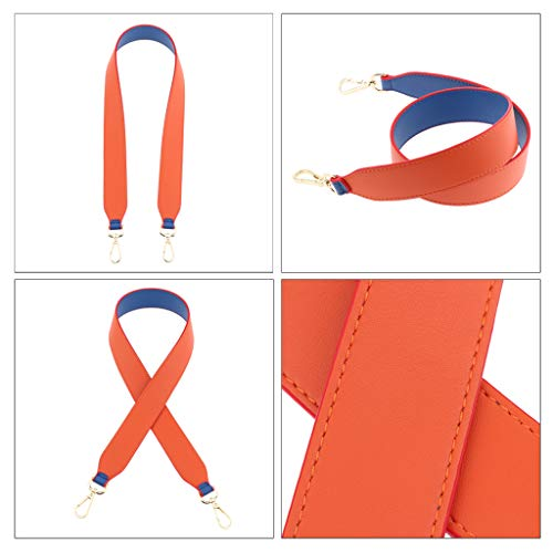 Remplacement Bandoulière Sac Main Face Gris Orange Double À Et Baoblaze De Bleu Sangle Rouge XZCwqY