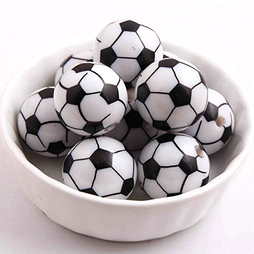 Calvas Top Quality 20MM 100pcs/lot Fashion Loose Gumball Acrylic Football Beads,Chunky Round Solid Beads for Necklaces Making!!