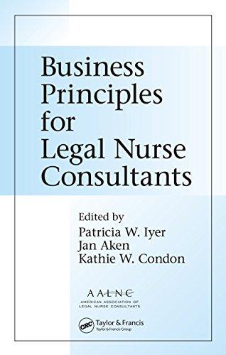 Business Principles for Legal Nurse Consultants Pdf