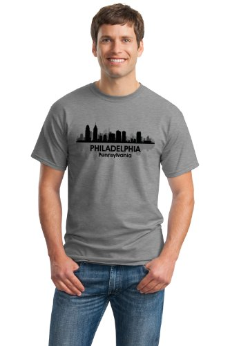 JTshirt.com-20075-PHILADELPHIA, PA CITY SKYLINE Unisex T-shirt / Brotherly Love, Philly Tee-B009AKSKC6-T Shirt Design