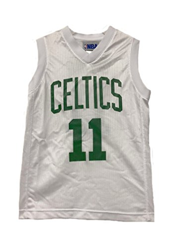 Outerstuff Nba Boys Youth 8 20 Player Name   Number Mesh Replica Jersey  Youth Large 14 16  Boston Celtics Kyrie Irving White