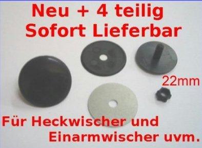 Kappe Zierschraube 22mm schwarz Blindstopfen Abdeckung Heck Clean Universal