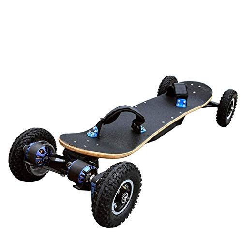 MJ-Games Electric Skateboard, Longboard with Remote Controller Power 1650W2 Double Drive Extreme Sports Longboard 45Km/H Top Speed