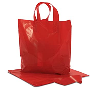 Amazon.com: De color rojo mate plástico HDPE bolsas de ...