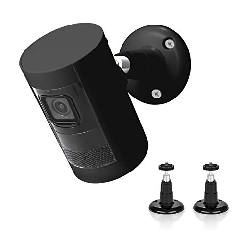 Wall Mount for Ring Stick Up Cam,LANMU 360 Degree Adjustable Mounting Bracket for All-New Ring Stick Up Cam Wired and Ring Stick Up Cam Battery HD Security Camera,Ring Camera Accessories (2 Pack)