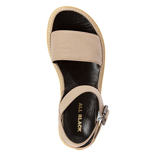 Tout Lugg Noir Bande Sandale Taupe Femmes